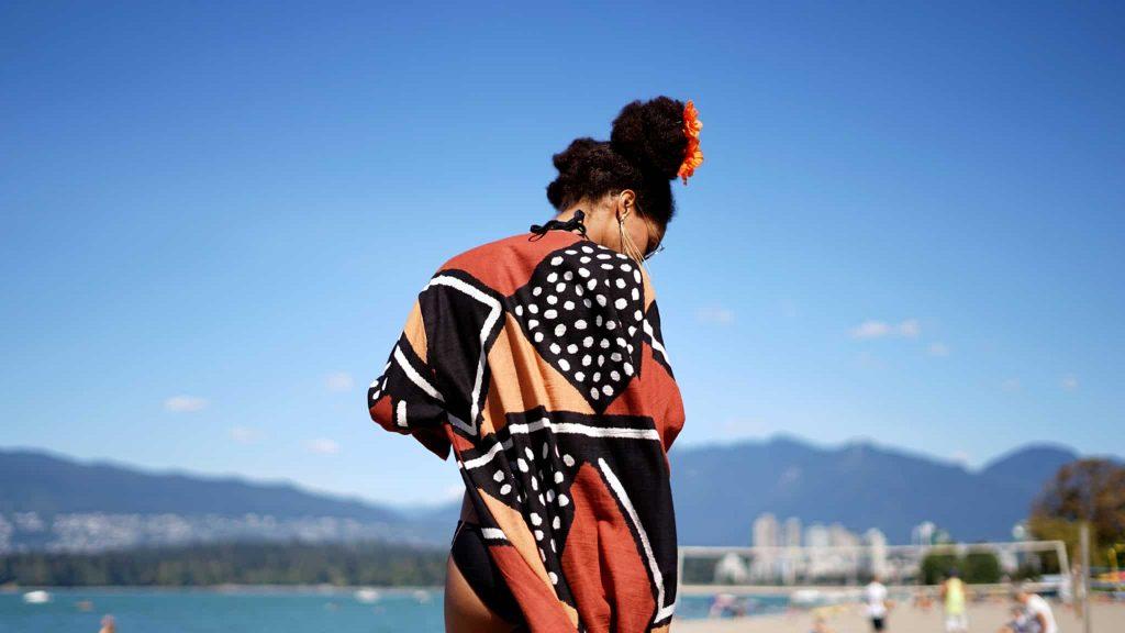 Handmade black-owned Etsy Cover ups over Bikinis   Summer beach look