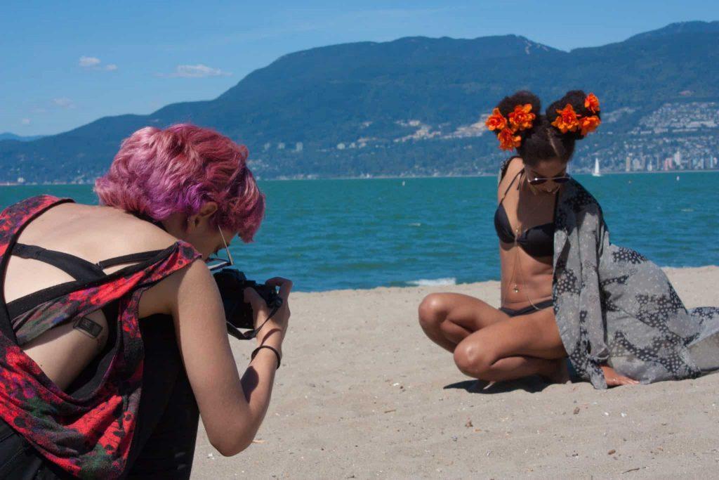 Bikini Beach Photo Shoot | Kimono Robe | Afro Puff | Tilda Kimono