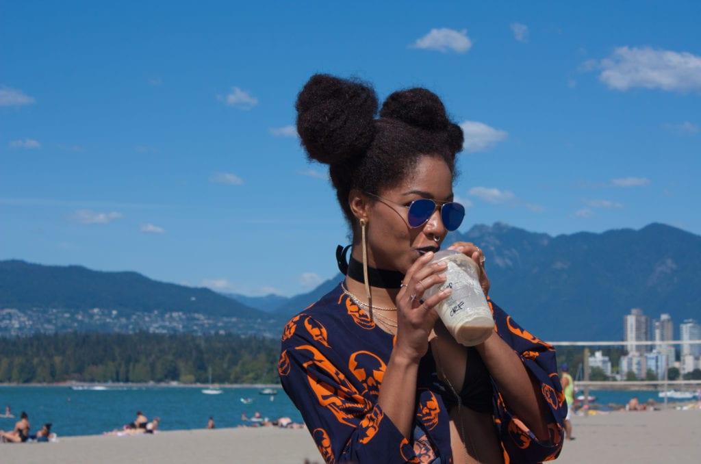 Afro Puff | Black Girl Magic | Skulls | Bad ass Black Girl | Tilda Kimono
