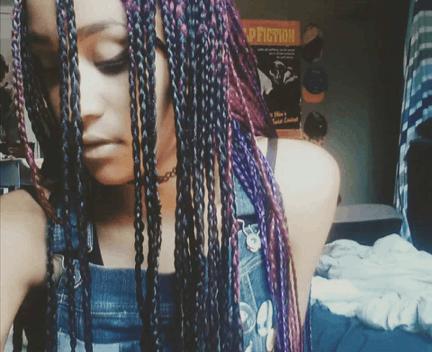 Purple and Black Box Braids   MultiColor Box Braids   Magenta   How To {