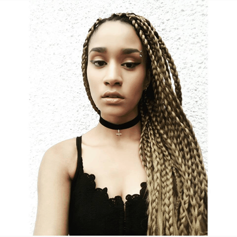 Golden Blonde Box Braids   Choker   How to do your own