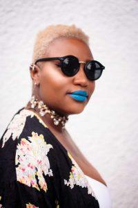 Tapered Blonde TWA Hair Cut Inspiration   Blue Lipstick