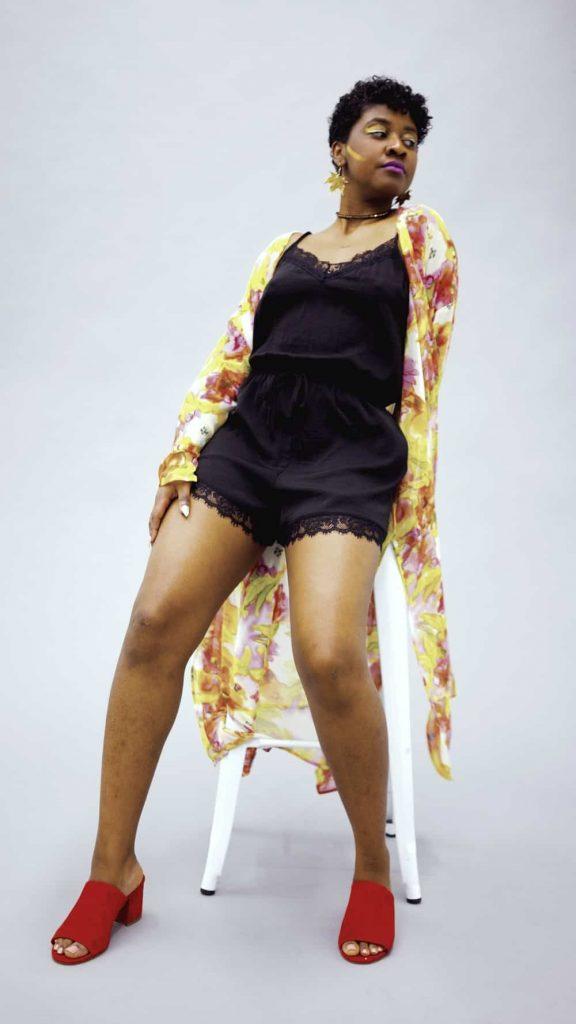 Tilda Kimono   Kimono Robe   Black Designer