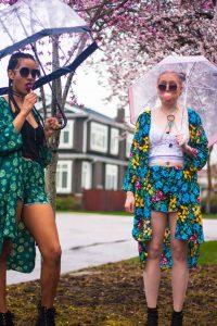 Tilda Kimono Model   Styled by Tildy   Floral Patterned   YVR Designer