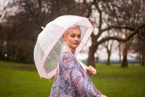 Pink Paisley Tilda Kimono   Vancouver Model   Vancouver Designer