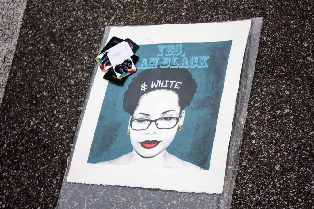 Yes, I am Black and White - Veronica Dorsett   VoDorsett   Painted at Vancouver Mural Festival 2017