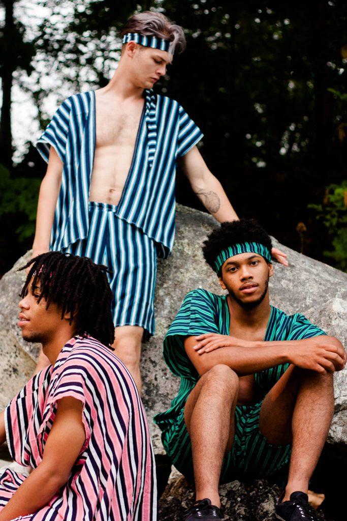 Boys in Striped TildaKimono   Men's festival Outfits Top and Shorts