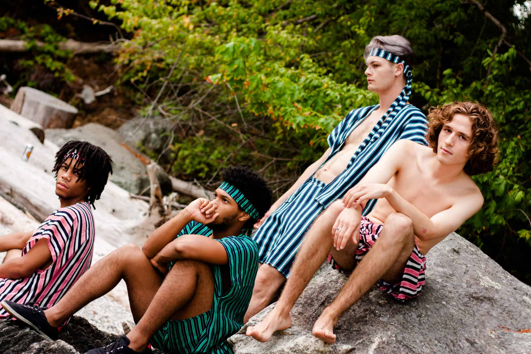 Guys Modelling TldaKimono Striped Two Pieces   Coachella Festival Fashion