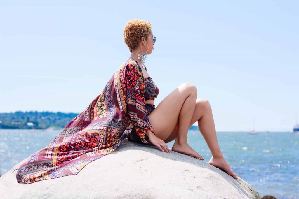 Patterned Two Piece set- Beach Cover up