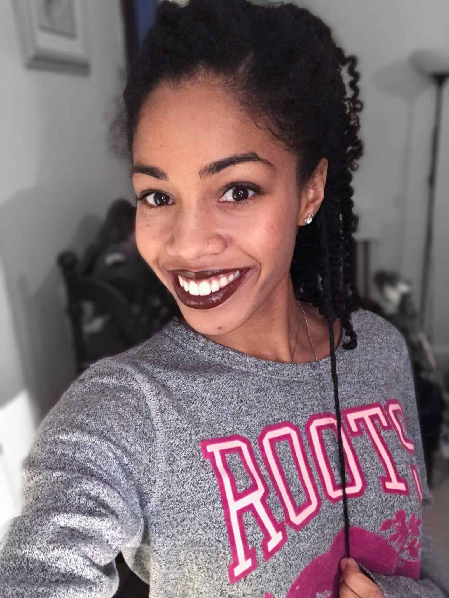 Natural Hair Dyed Black Hair Length Check | Healthy Natural Hair Journey with Colored Type 4 Curls