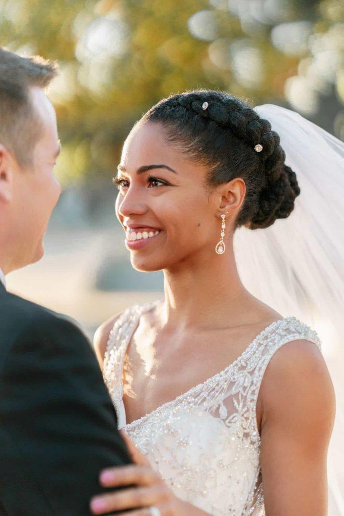 Braided Natural Hair Bride   Formal Updo
