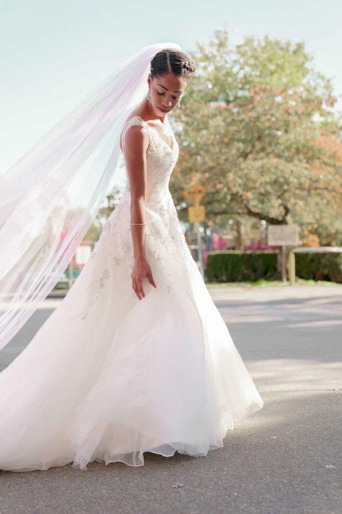 Natural Hair Bride - Black Bride Wedding Dress