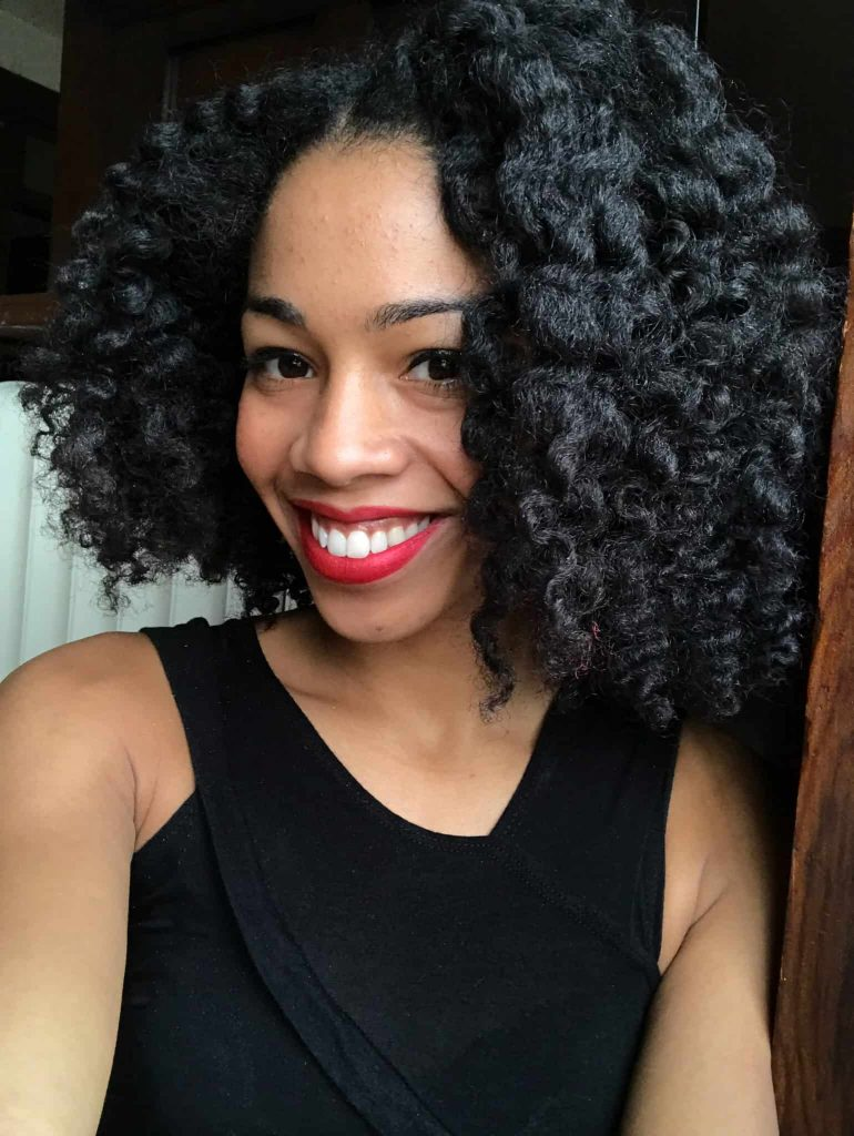 Defined shiny Twist out Results on Type 4 Natural Hair Using Mielle Organics Pomegranate and Honey Twisting Souffle