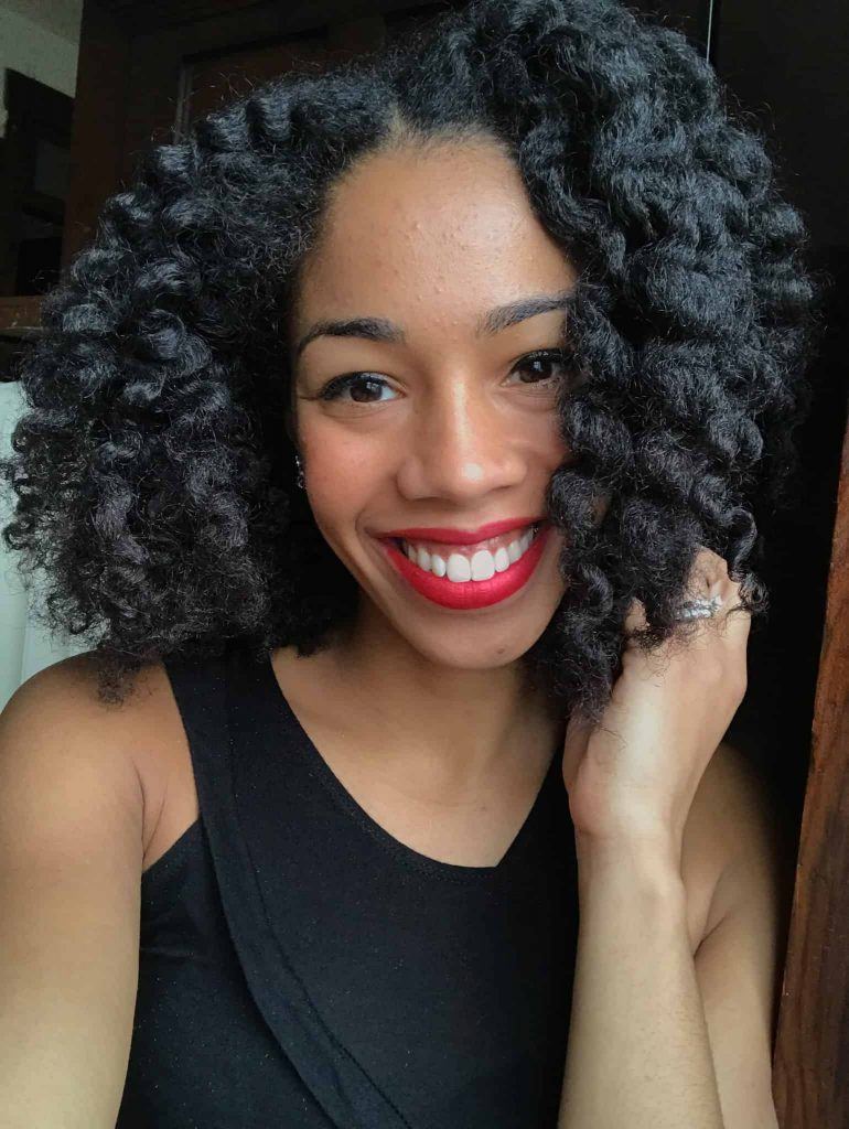 Defined shiny Twist out on Type 4 Natural Hair Using Mielle Organics Pomegranate and Honey Leave-in Conditioner andTwisting Soufflé