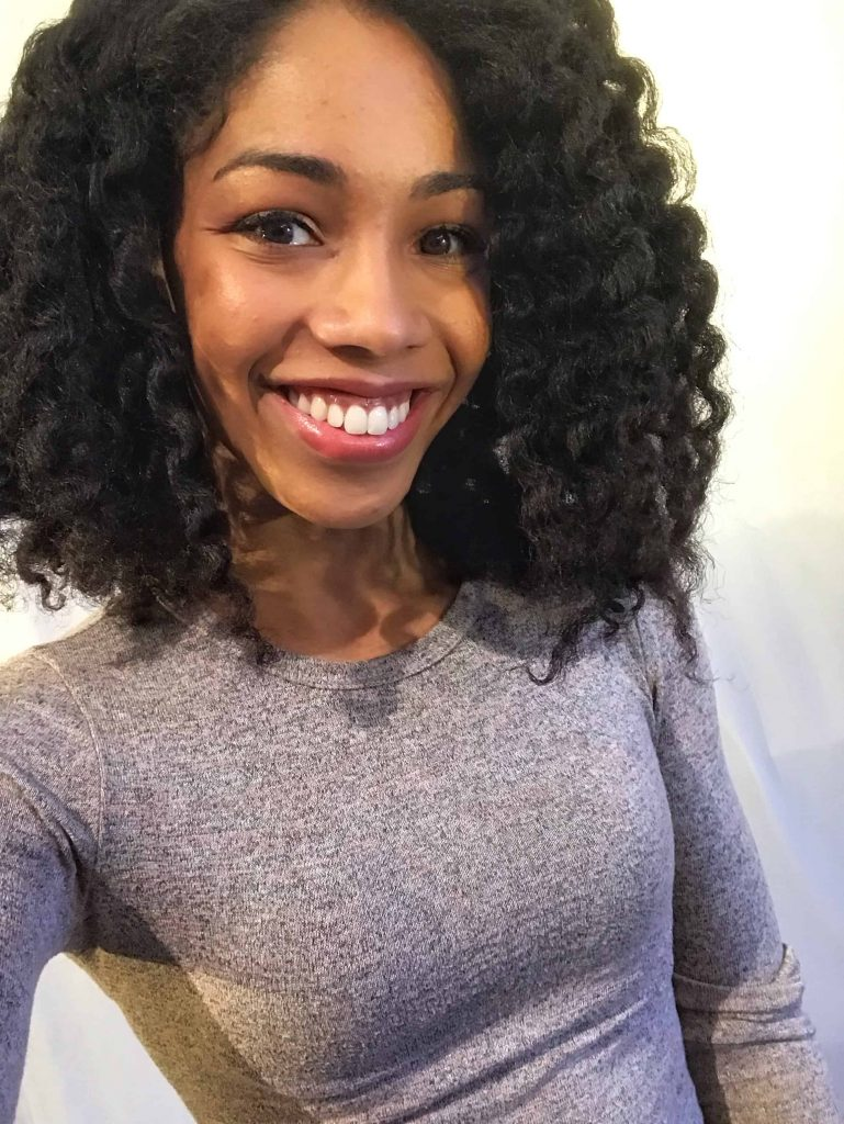 Canadian Natural Hair Blogger Selfie of Twistout using Whitney White's new Product line