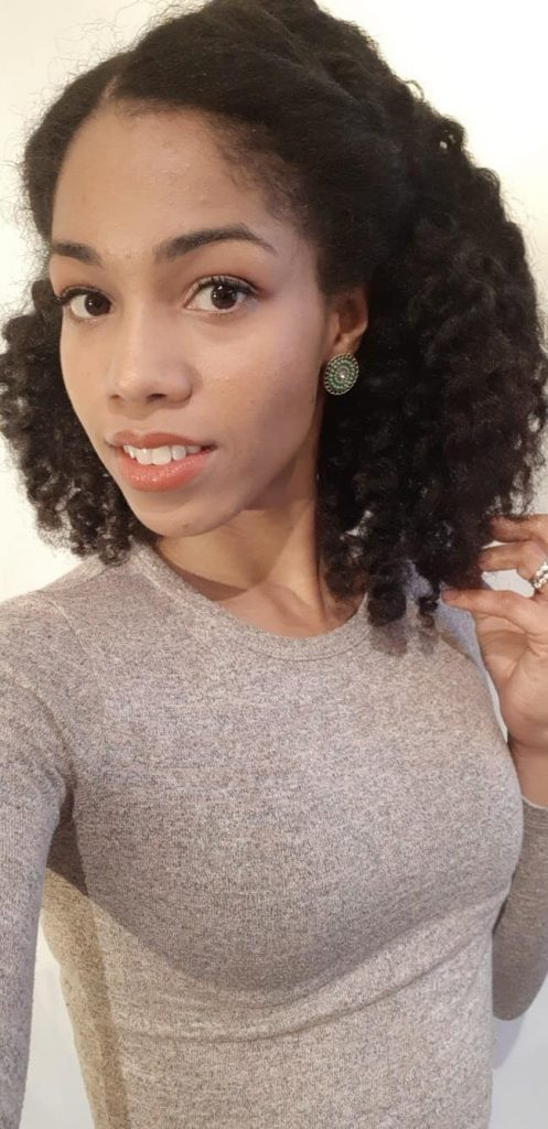 Natural Hair Selfie   Half up Half Down Twist Out using Melanin Haircare products