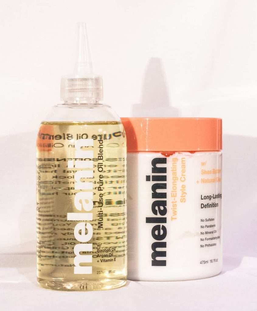 Product Shot for Melanin Haircare  Oil and Styler  (Created by Youtuber Naptural85/ Whitney White