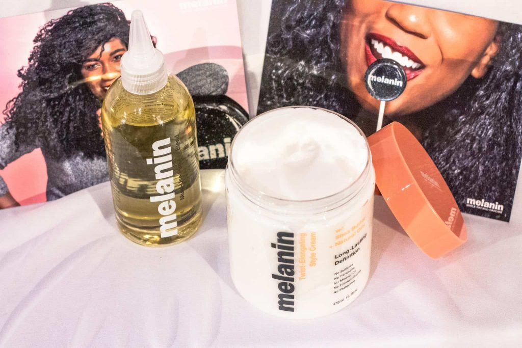 Naptural 85's (Whitney White's) New hair product line: Melanin Haircare. Twist-Elongating Style Cream + Multi-Use Pure Oil Blend Review + Results