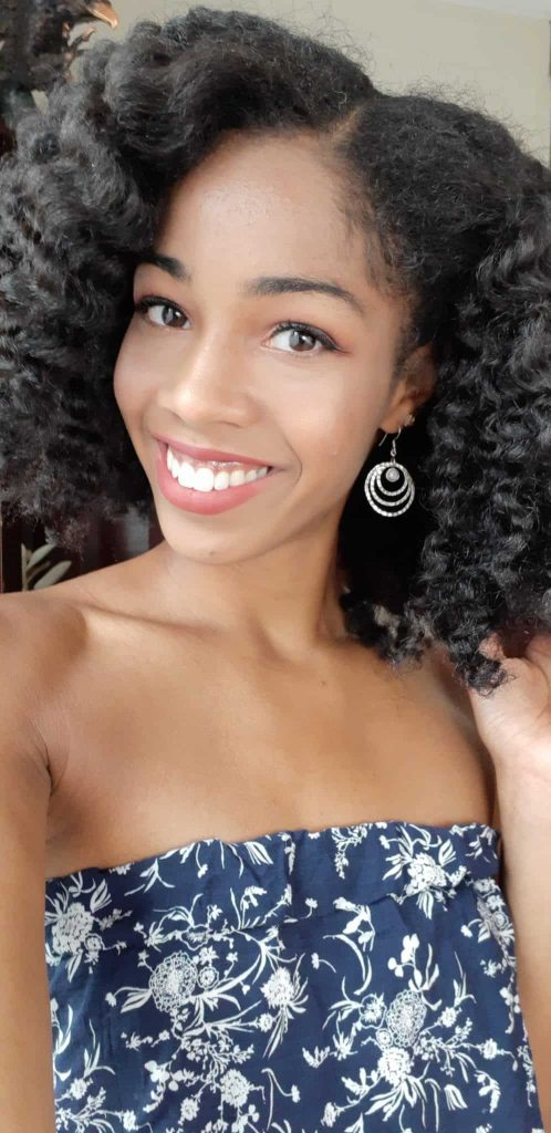 Braid Out Selfie | Natural Hair style using LUS Love Ur Curls Products + Deep Conditioner + Elixir Oil