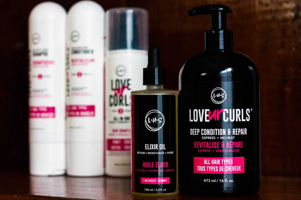 Collection of LUS Brands Love Ur Curls Products   Review on Deep Conditioner and Elixir Oil