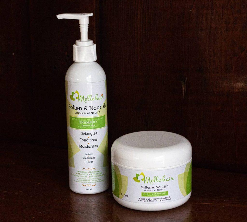 Mello Hair Shampoo Mello Hair Conditioner - Canadian made Natural Hair Products Review