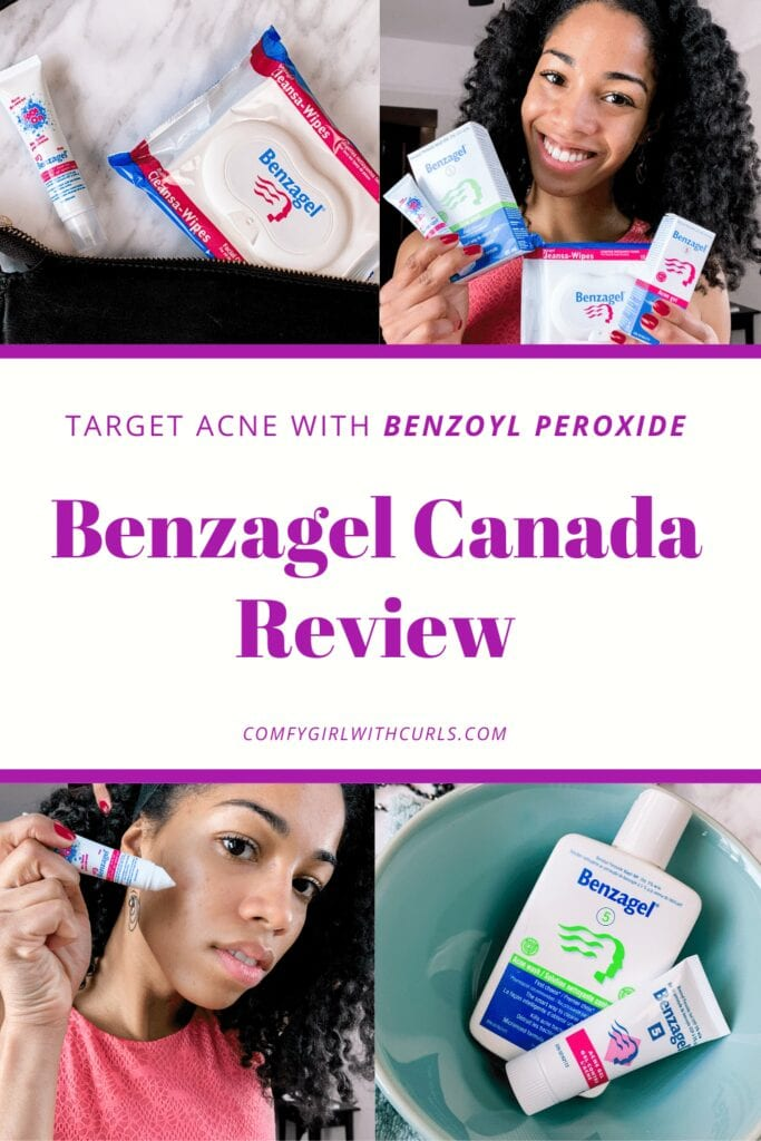 Target Acne with Benzoyl peroxide: Benzagel Canada Product Review Collage