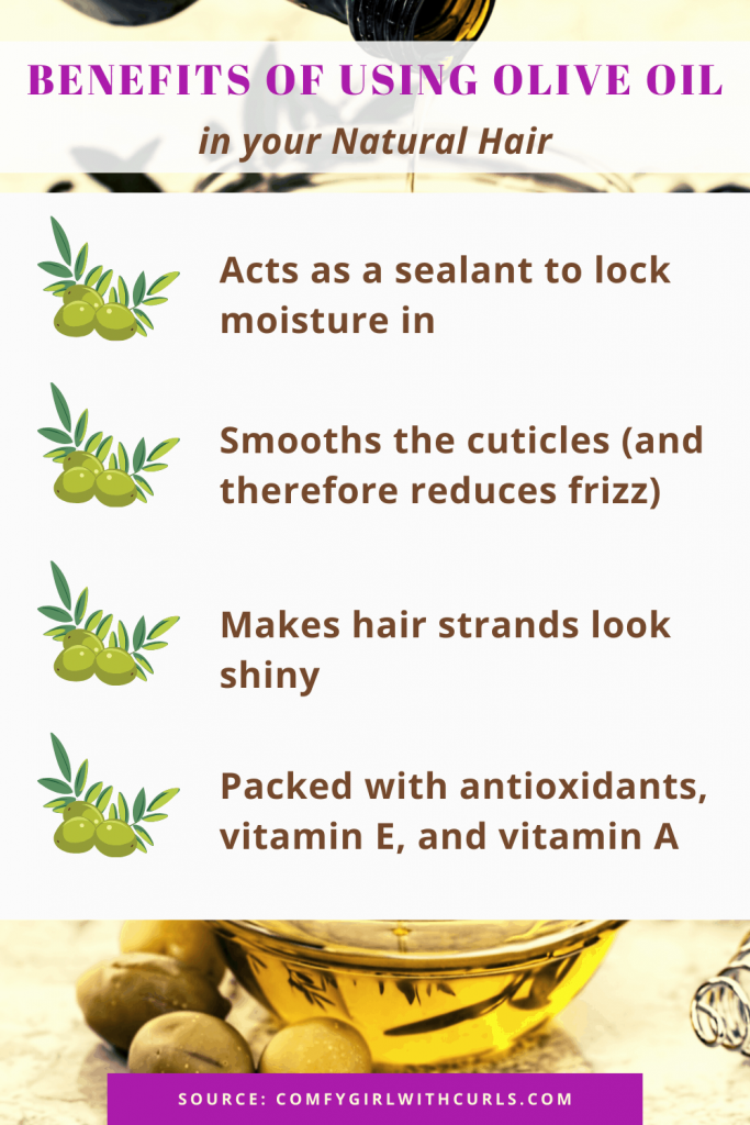 4 Benefits of Olive Oil in your Natural Hair   Infographic