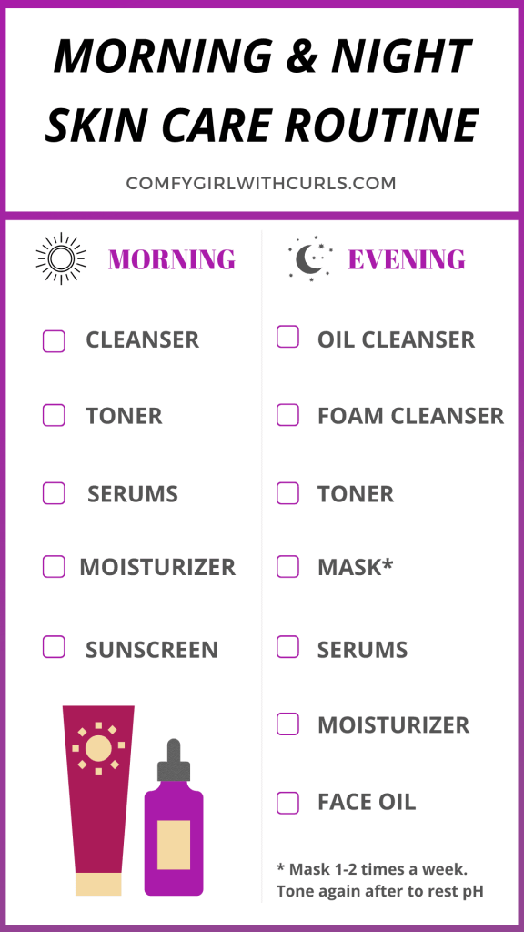 Morning and Evening Steps for my Skin Care Routine