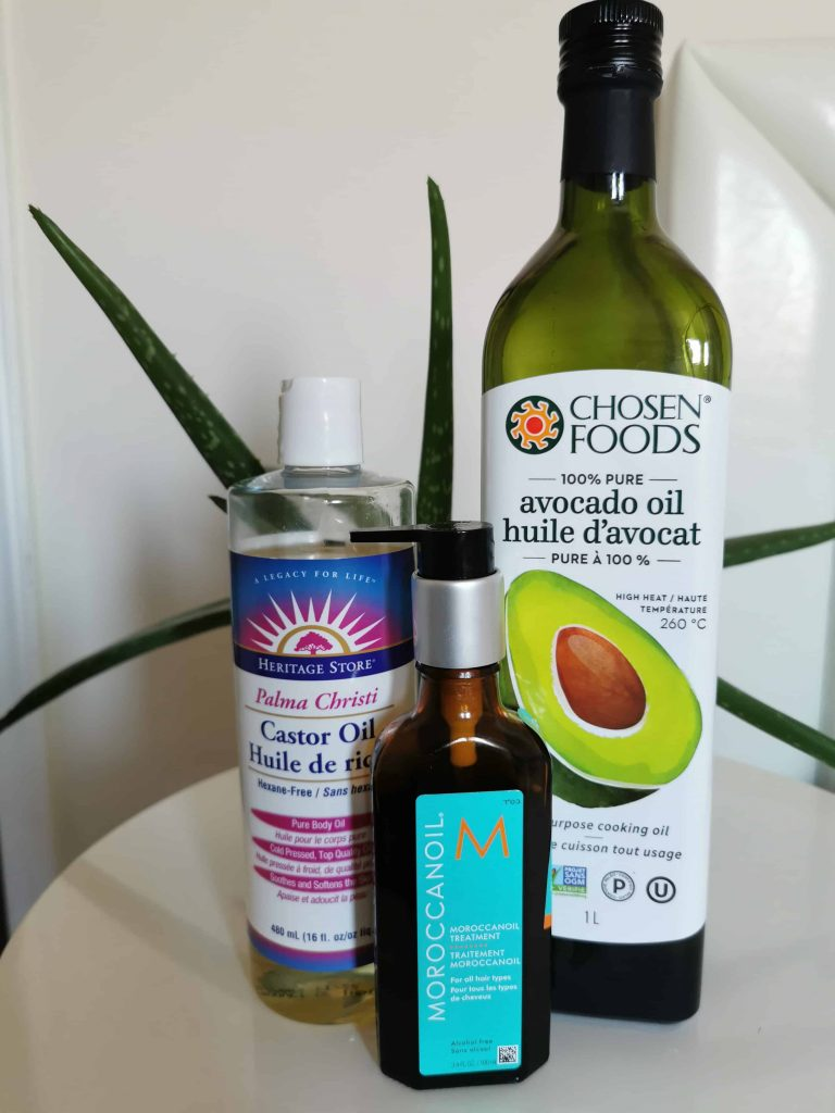 Caring for two strand twist locs with oils. Avocado Oil, Moroccan Oil, Castor Oil