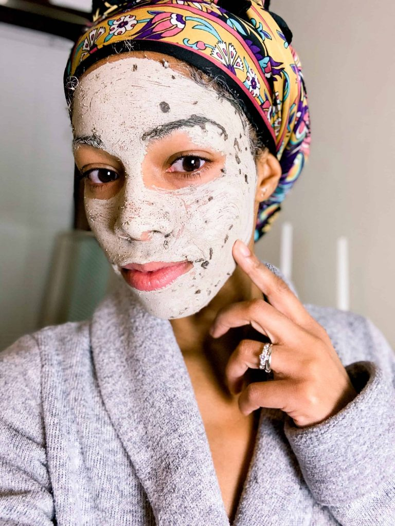 Skincare Routine Clay Mask   Himalayan Charcoal Purifying Glow Mask from the Body Shop