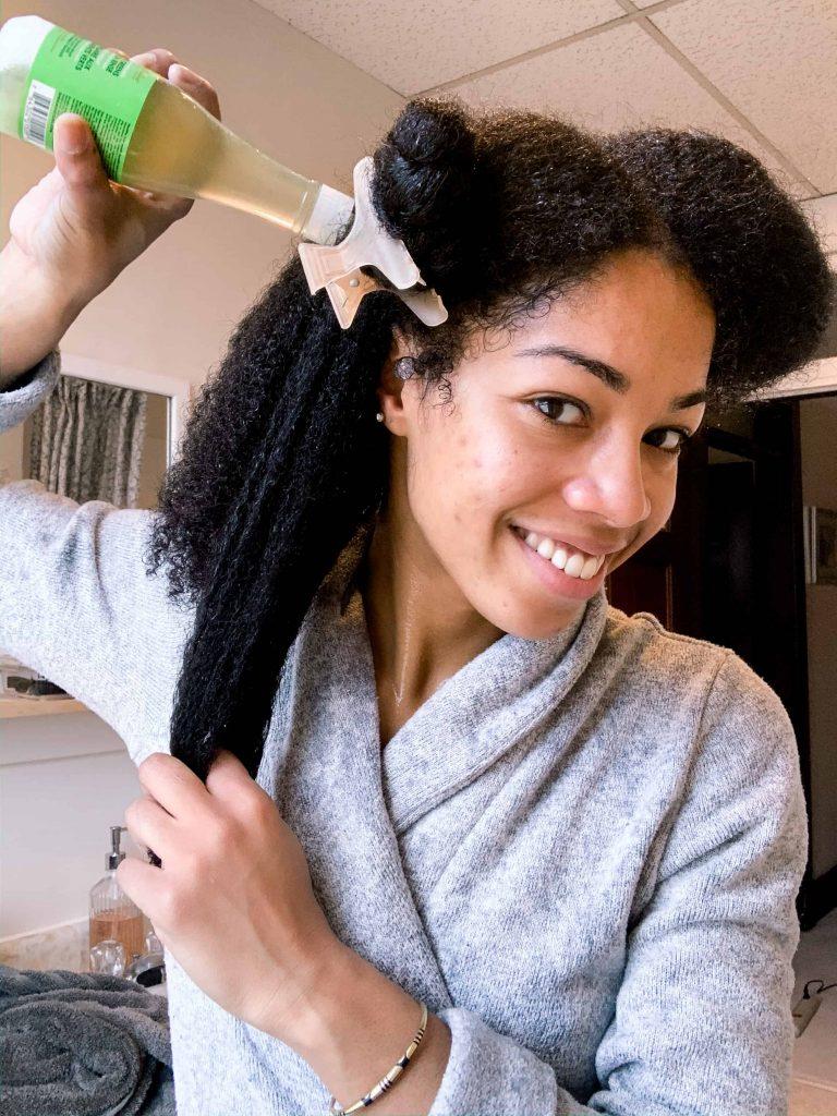 Shea Moisture Power Greens Green Tea Hair Rinse | Canadian Natural Hair Blogger