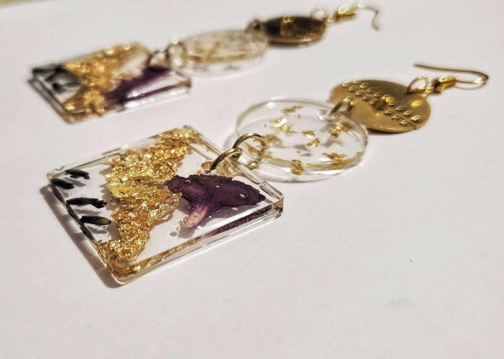 BounceBackJewelry   AVA: Three Tiered Bold Dangle Earring   Canadian Black Owned Etsy Shop