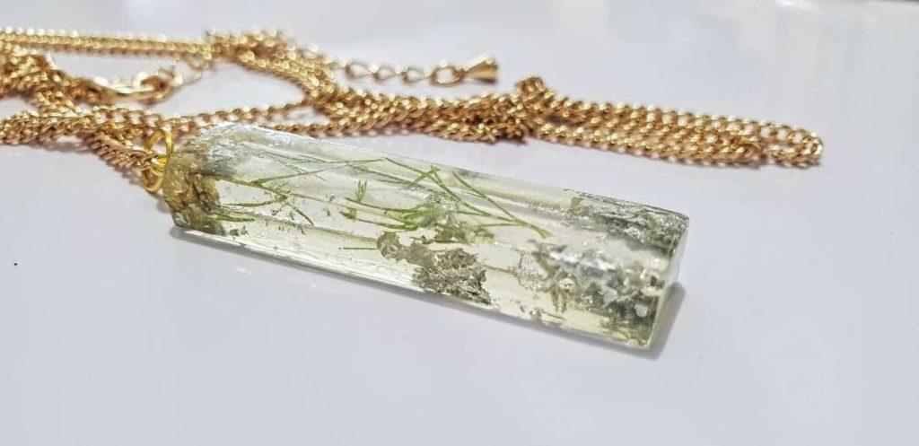 BounceBackJewelry   COLVIN: 3D Rectangle Resin Necklace Pendant   Black Etsy Seller from Canada