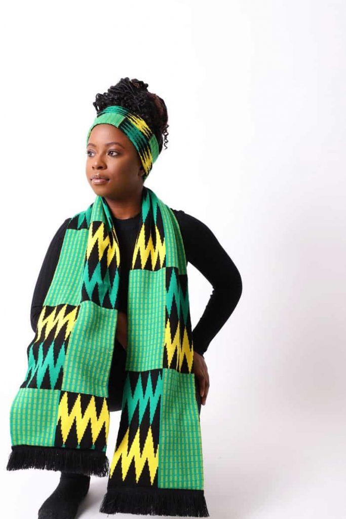 ShopNorthernashanti   Northern Ashanti Mensa Scarf with Fringe   Black Canadian Etsy Seller