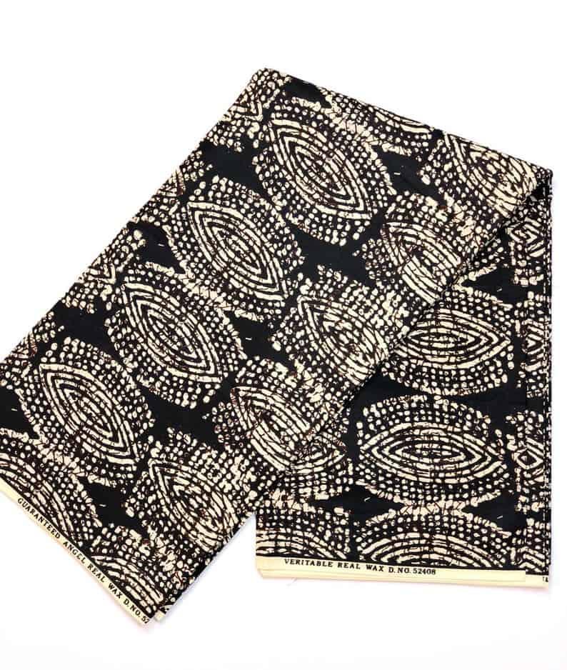 Black and white print   NasikaWax   African Print Wax