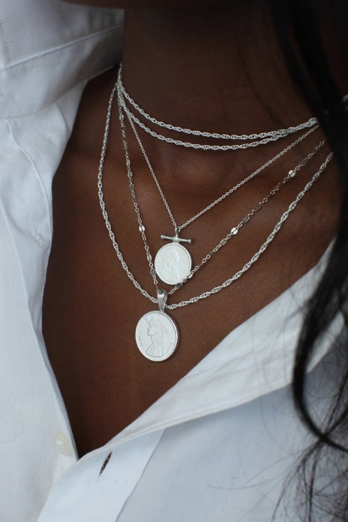 Etsy Omi Woods THE QUEENDOM Coin Necklace Stack   Black Owned Ethically Handmade Jewelry Fine Metnals