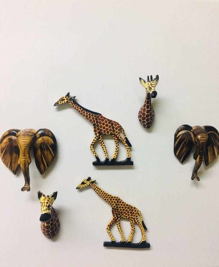 Etsy Shop BaskArts   Fridge Magnets of African Animals