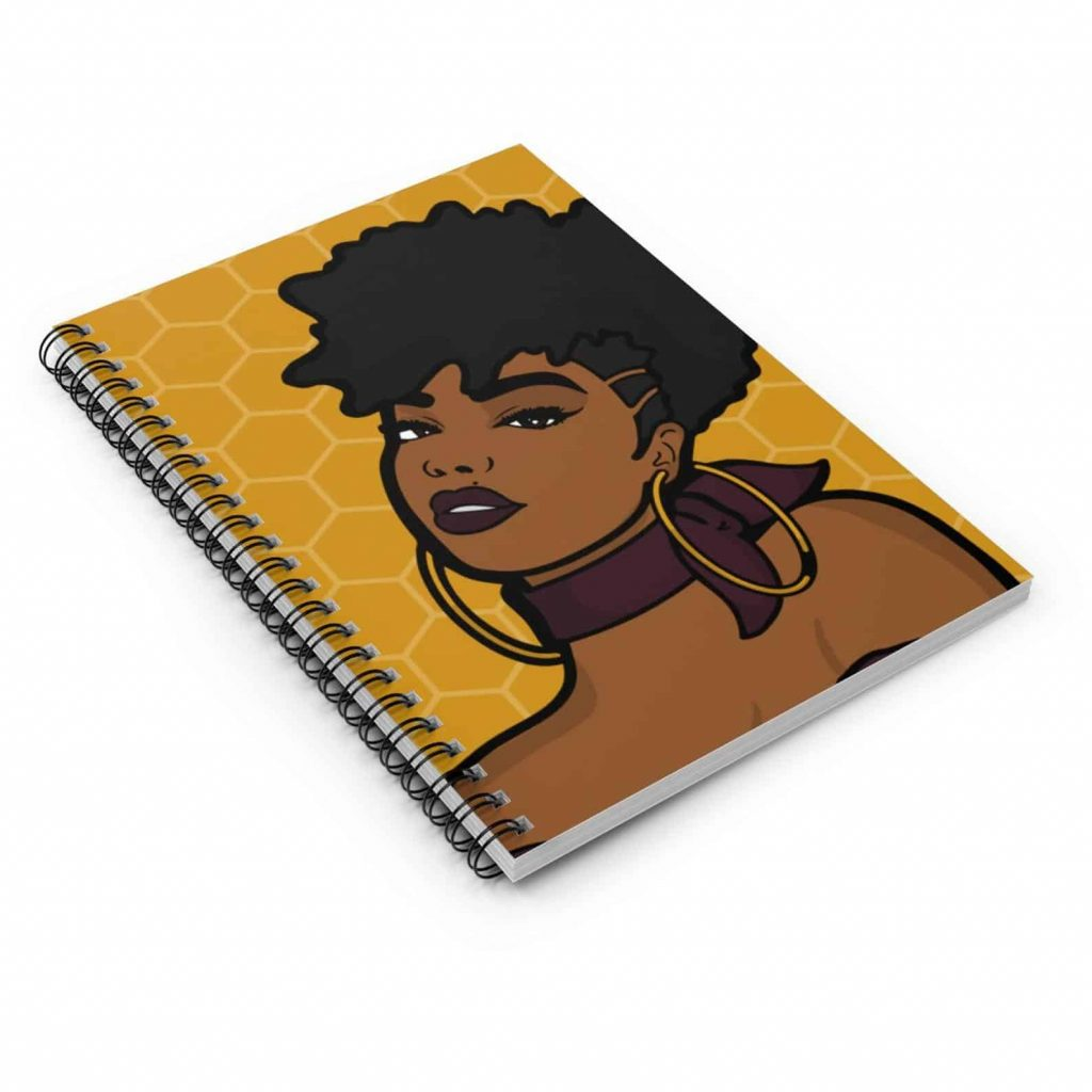 M&K Creative Designs Black Owned Canadian Etsy Shop   Afrocentric Products Black Girl Notebook