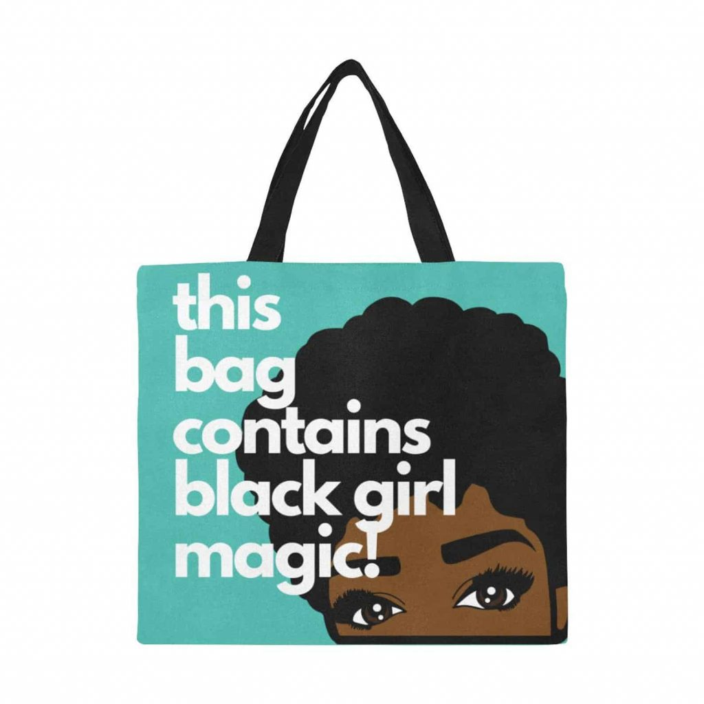 M&K Creative Designs Black Owned Canadian Etsy Shop   Afrocentric Products Black Girl Magic Bag