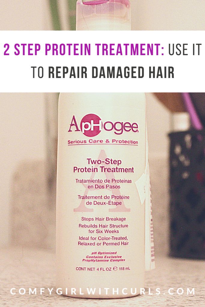 Use Aphogee's 2 Step Protein Treatment on your Natural Hair | Black Blogger Review