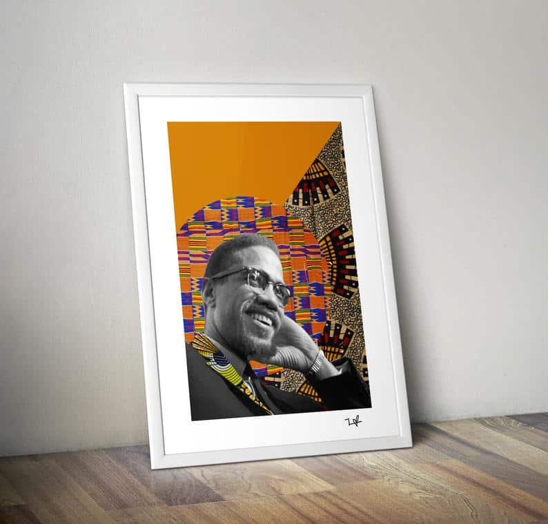 Frequency of Love Art Prints Malcom X   Best Gifts