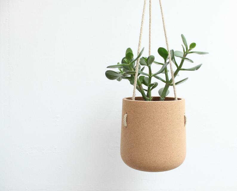 Black-Owned Etsy Shop: Mind the cork hanging planter