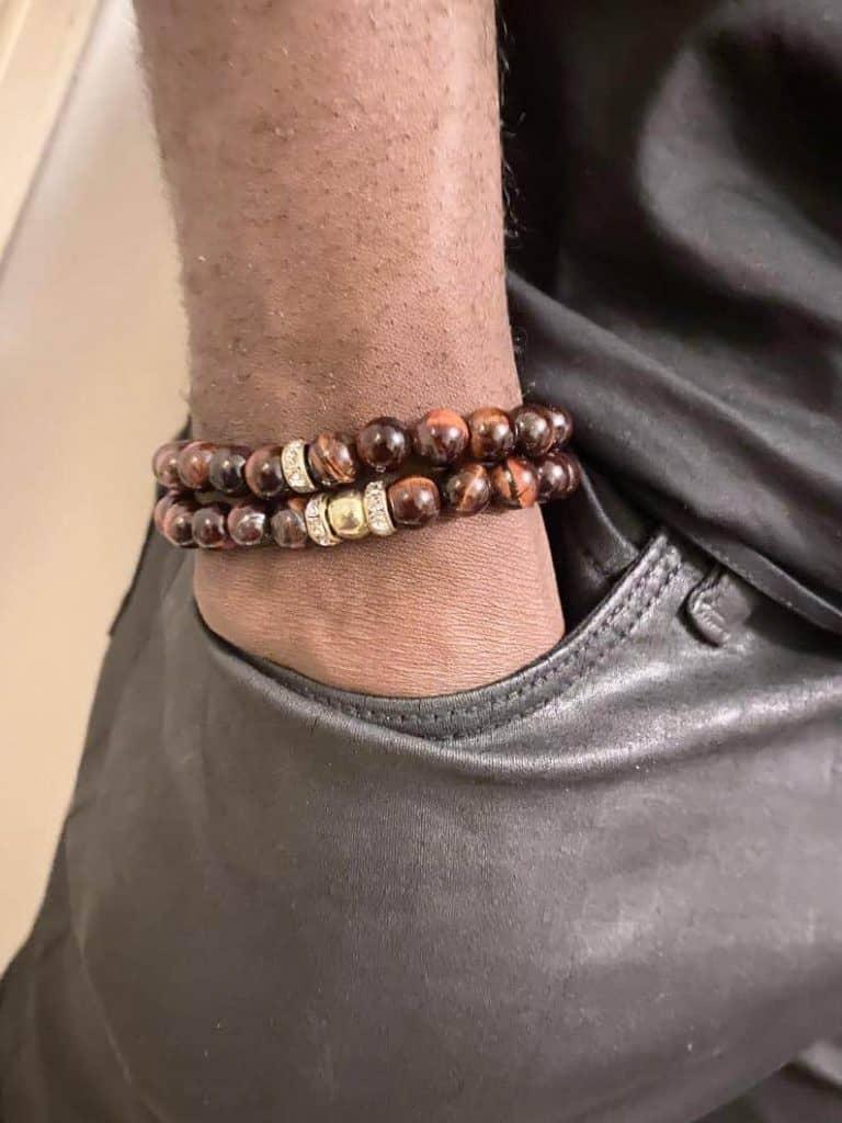 JOAS Accessories Tiger Eye Bead Bracelet   Black Owned Etsy Gifts for Men