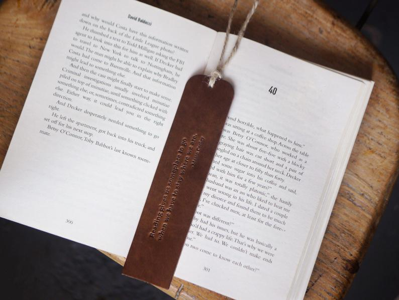 Perfect Gift for Men  Black Owned Business Kingsley Leather Bookmark