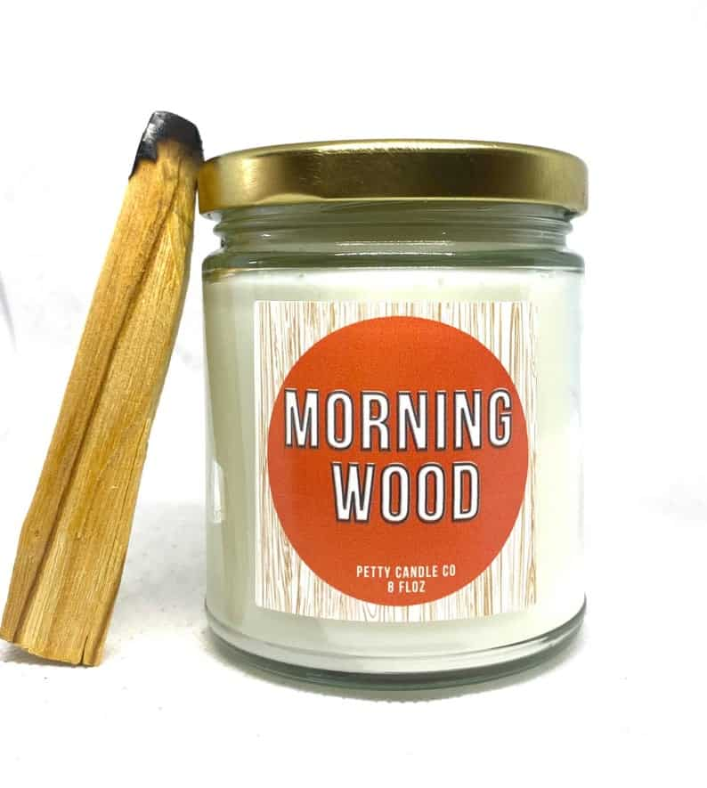 Petty Candle Co - Morning Wood   Black-owned Etsy Gifts