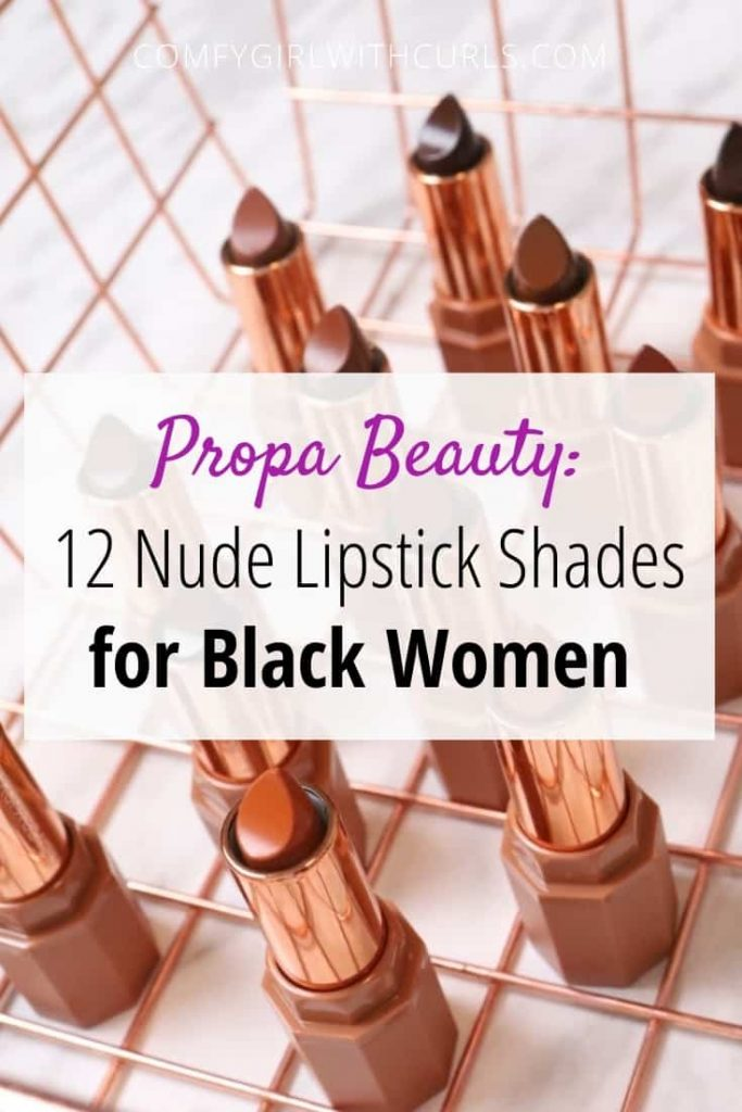 Propa Beauty 12 Nude Lipstick Shades for Black Women
