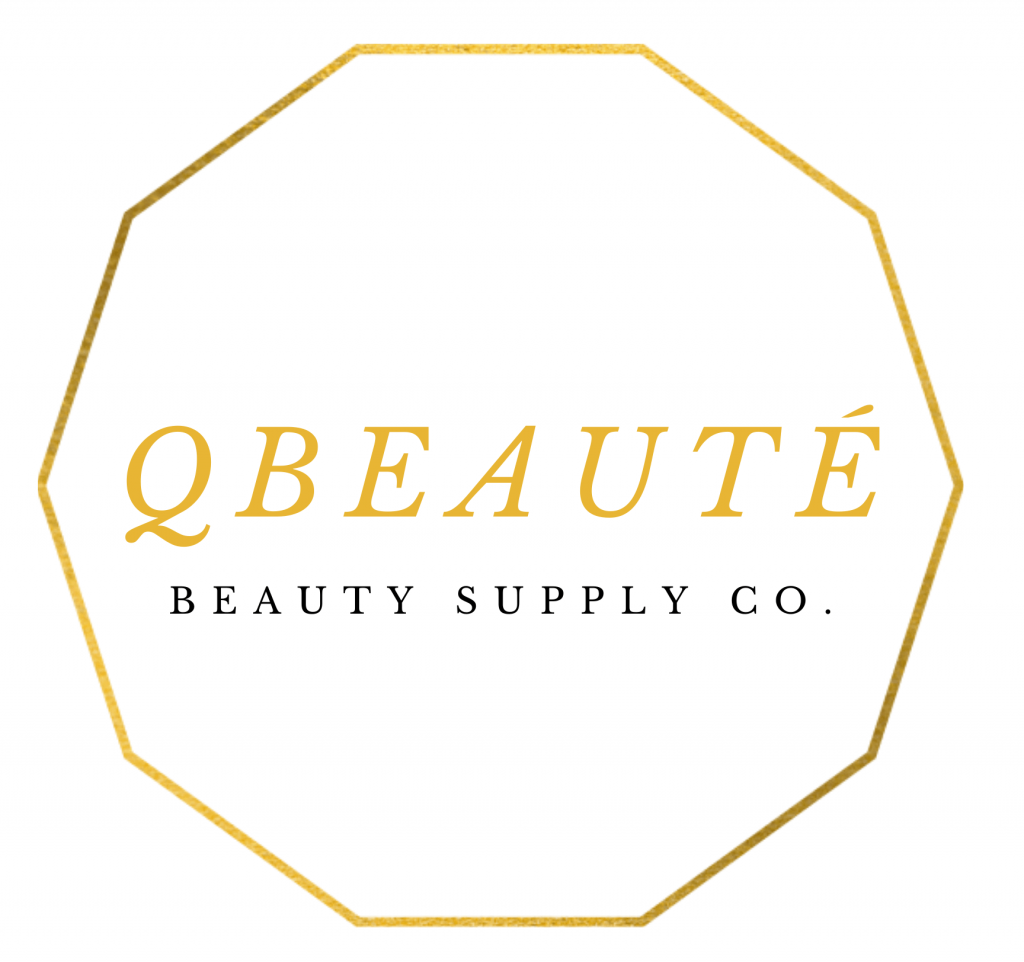 QBeauté Beauty Supply Co. Logo. Black-Owned, Woman-Owned Canadian Business.