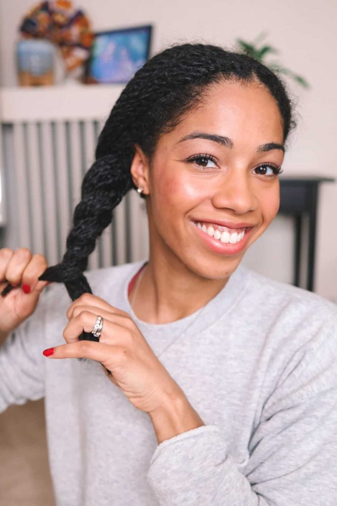 Mini twists on Natural Hair in a protective style. Image embedded in post about Attitude Living Shampoo and Conditioner Super Leaves for Type 4 Hair.