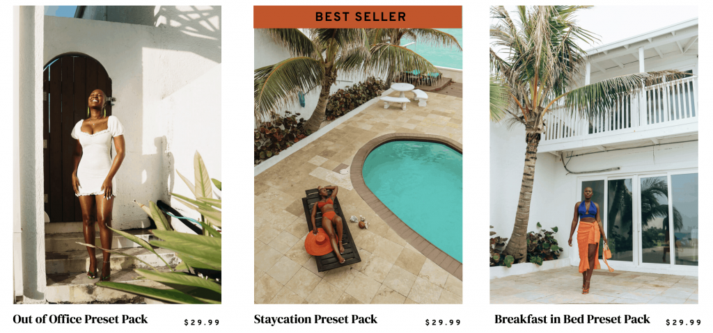 Sweet Like Oyin Presets - Perfect for brown skin and travel Instagrammers and Bloggers