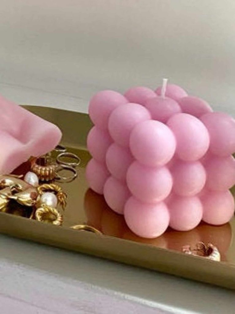 Cool shaped bubble candles | Black Owned Candle Companies